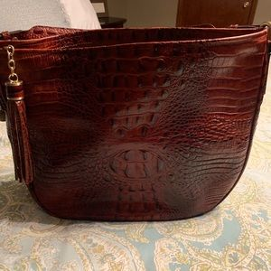 Melbourne Collection crocodile Brahmin handbag